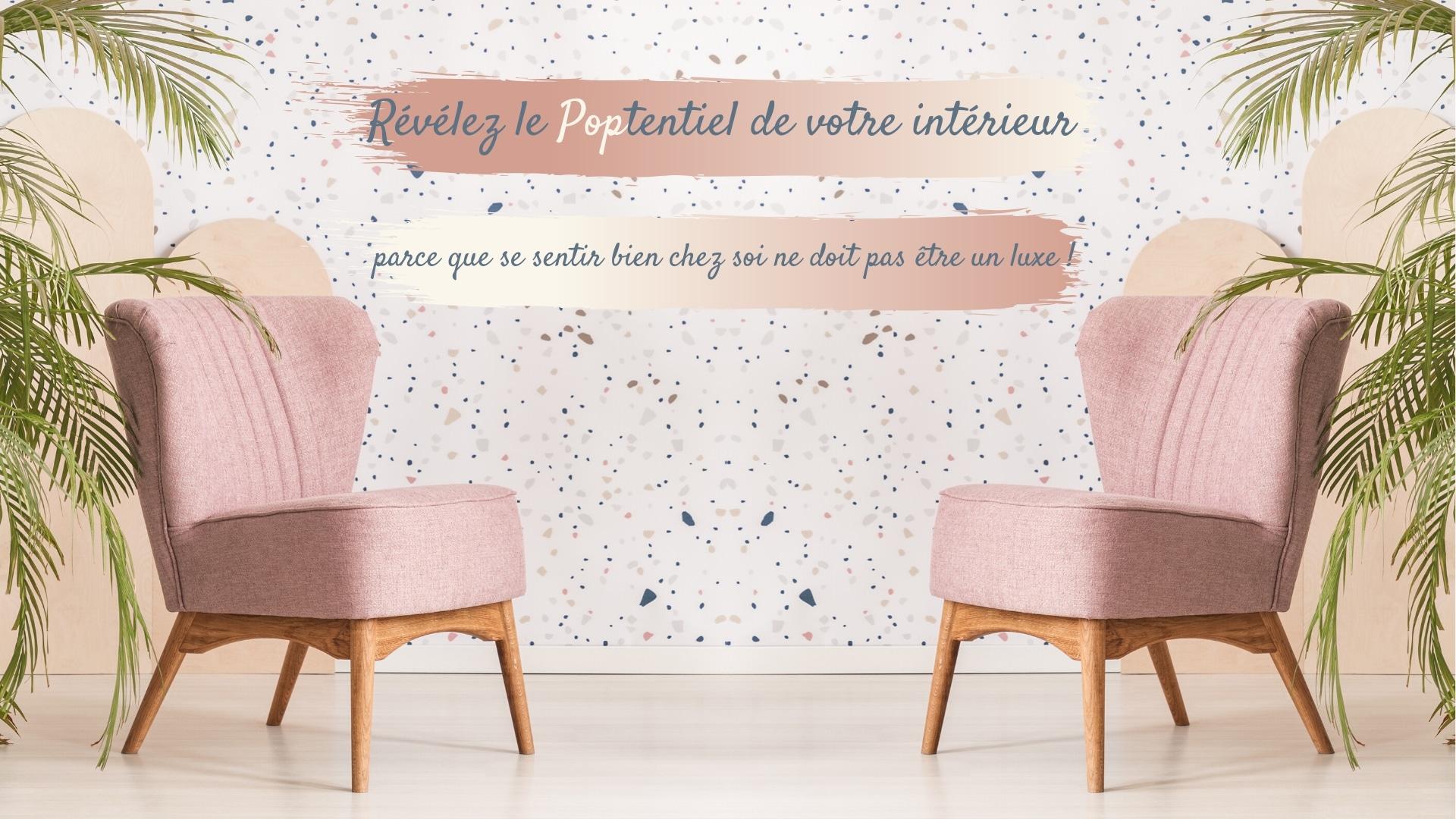 deux fauteuils roses